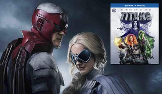 "Hawk and Dove make an appearance in ""Titans: The Complete First Season,"" now available on Blu-ray from Warner Bros. Home Entertainment."