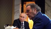 """This photo taken on Wednesday, June 19, 2019, and distributed by Kremlin Press Service shows Russian President Vladimir Putin during an interview with American movie director Oliver Stone for his """"Revealing Ukraine"""" documentary in the Kremlin in Moscow, Russia. (Alexei Druzhinin, Sputnik, Kremlin Pool Photo via AP)"""