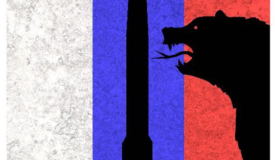 Illustration on missile negotiations with Russia by Alexander Hunter/The Washington Times