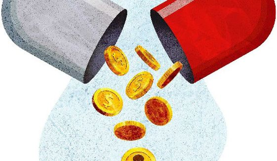 Discount Drugs Illustration by Greg Groesch/The Washington Times