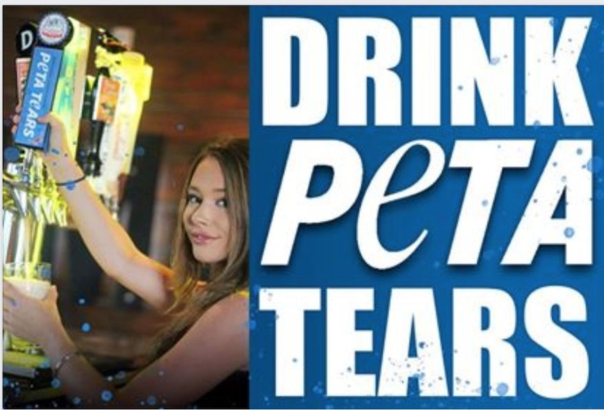 """Jimmy's Famous Seafood, which was targeted by PETA in 2018 for selling crabs, is celebrating the moment by selling a limited run of """"PETA Tears"""" lager. (Image: Facebook, Jimmy's Face)"""