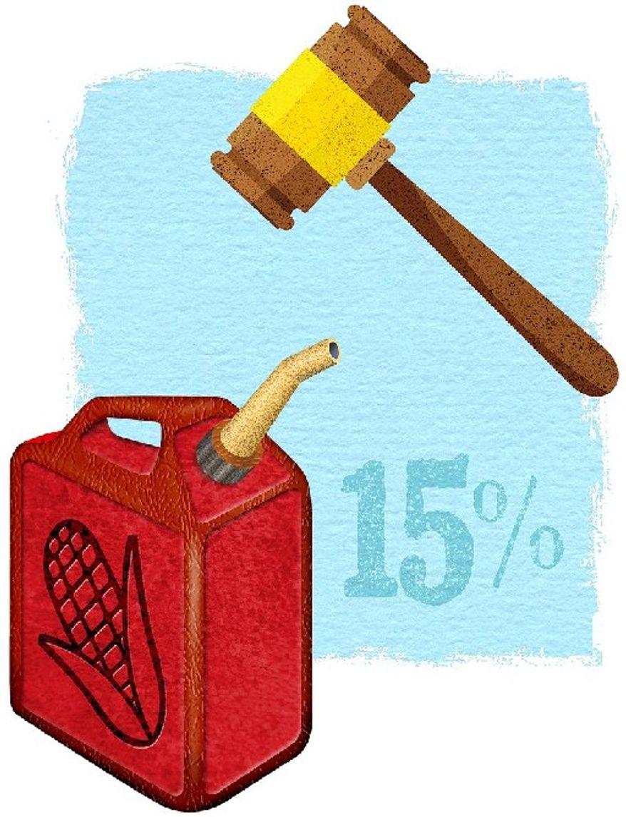 Ethanol Lawsuit Illustration by Greg Groesch/The Washington Times