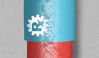 Illustration on government pharma price controls by Linas Garsys/The Washington Times