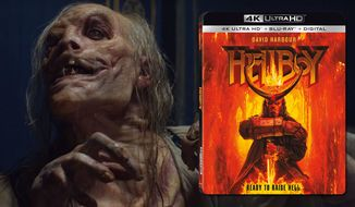 "The witch Baba Yaga appears in ""Hellboy,"" now available on 4K Ultra HD from Lionsgate Home Entertainment."
