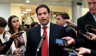 Sen. Marco Rubio, Florida Republican, said Huawei is linked to Chinese intelligence-gathering operations and is required to turn over information it collects. (Associated Press/File)