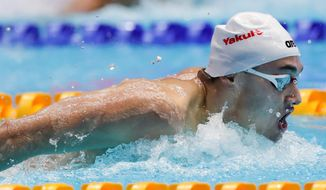 Hungary's Kristof Milak, 19, became the first teenager to win a world championship in the 200-meter butterfly since Michael Phelps at age 18 in 2003. (ASSOCIATED PRESS)