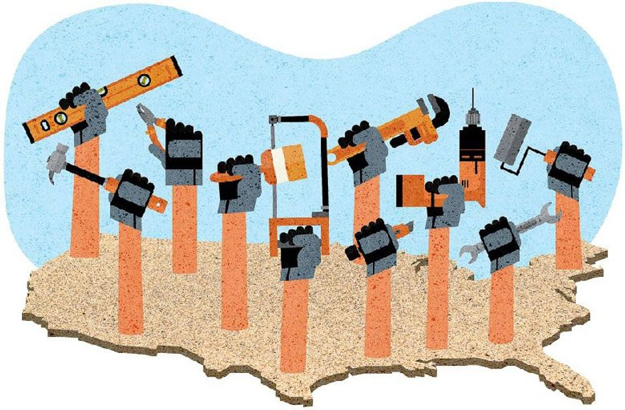 Apprenticeships Growing Jobs Illustration by Greg Groesch/The Washington Times