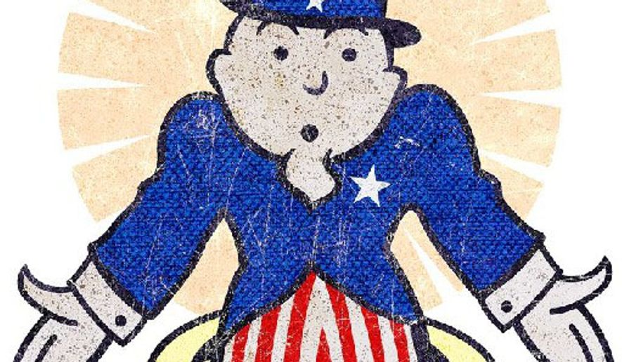 Uncle Sam Runs Out of Monopoly Money Illustration by Greg Groesch/The Washington Times