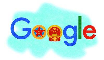 Illustration on Google/China cooperation by Alexander Hunter/The Washington Times