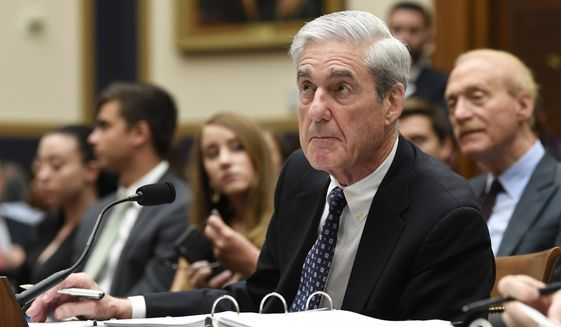 Former special counsel Robert Mueller testifies on Capitol Hill in Washington, Wednesday, July 24, 2019, before the House Judiciary Committee hearing on his report on Russian election interference. (AP Photo/Susan Walsh)