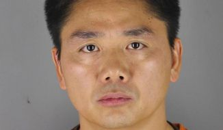 FILE - In this 2018 file photo provided by the Hennepin County Sheriff's Office shows Chinese billionaire Liu Qiangdong, also known as Richard Liu, the founder of the Beijing-based e-commerce site JD.com. The Minneapolis Police Department has released public data relating to its investigation into a rape allegation against Richard Liu. Liu was arrested Aug. 31, 2018, on suspicion of felony rape. But prosecutors declined to file charges due to evidentiary problems. The data released Wednesday, July 24, 2019, includes police reports, a recorded interview with Liu, text messages and video. The data shows conflicting stories about what happened that night.( Hennepin County Sheriff's Office via AP, File)