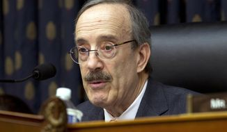 In this Wednesday, Feb. 13, 2019, file photo, House Foreign Affairs Committee Chairman Rep. Eliot Engel, D-N.Y., speaks during the House Foreign Affairs subcommittee hearing on Venezuela at Capitol Hill in Washington. (AP Photo/Jose Luis Magana, File)