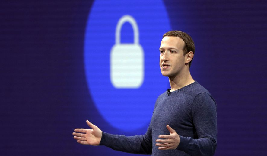 In this May 1, 2018, file photo, Facebook CEO Mark Zuckerberg delivers the keynote speech at F8, Facebook's developer conference, in San Jose, Calif. Federal regulators are fining Facebook $5 billion for privacy violations and instituting new oversight and restrictions on its business. But they are only holding Zuckerberg personally responsible in a limited fashion. (AP Photo/Marcio Jose Sanchez, File)
