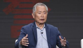 """George Takei participates in AMC's """"The Terror: Infamy"""" panel at the Television Critics Association Summer Press Tour on Thursday, July 25, 2019, in Beverly Hills, Calif. (Photo by Willy Sanjuan/Invision/AP) ** FILE **"""