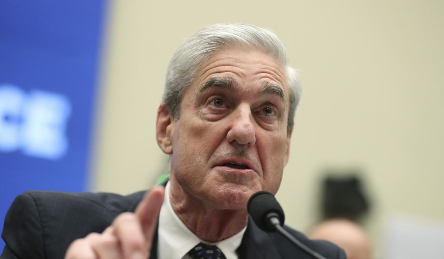 Former special counsel Robert Mueller testifies before the House Intelligence Committee hearing on his report on Russian election interference, on Capitol Hill, in Washington, Wednesday, July 24, 2019. (AP Photo/Andrew Harnik) ** FILE **
