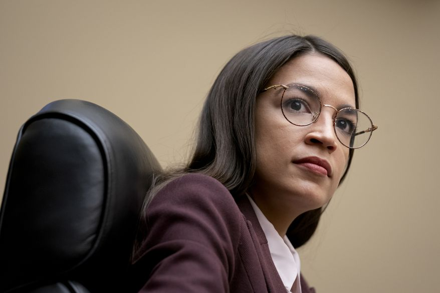Rep. Alexandria Ocasio-Cortez, D-N.Y., attends a House Oversight Committee hearing on high prescription drugs on Capitol Hill in Washington, Friday, July 26, 2019. (AP Photo/J. Scott Applewhite) ** FILE **