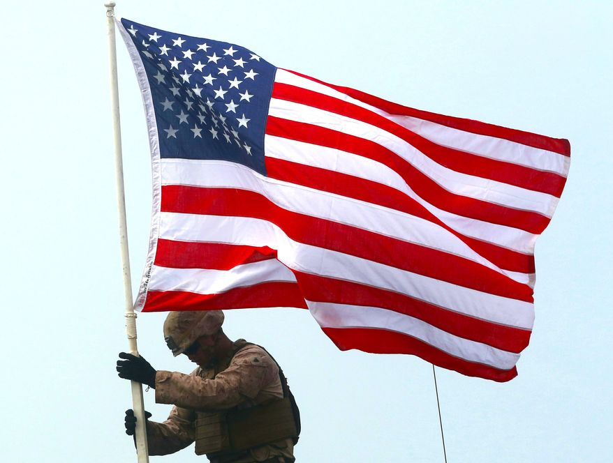 Polls reveals that Democrats are not feeling very patriotic these days. (Associated Press)