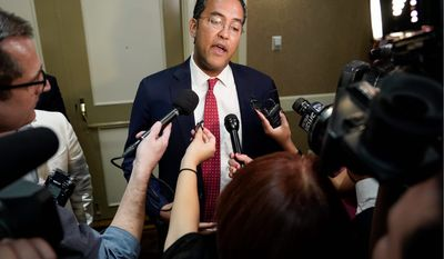 Rep. Will Hurd, Texas Republican, said he didn't consider President Trump's comments about Rep. Elijah E. Cummings, Maryland Democrat, to be racist.
