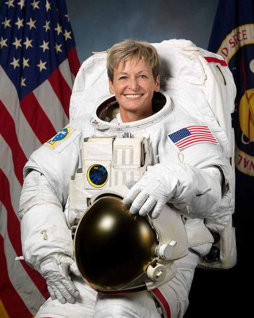 Photo 2: Retired NASA astronaut Peggy Whitson was the first female commander of the International Space Station, and she spent almost two years in total in space, breaking the record for most days spent in space by a NASA astronaut. Photo from NASA.