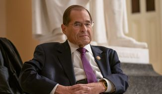 House Judiciary Committee Chairman Jerrold Nadler, of New York, led Democrats in filing a lawsuit to look at the grand jury information that was stripped out of former special counsel Robert Mueller's report. (Associated Press) ** FILE **