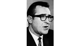 U.S. District Attorney of Massachusetts, Paul Markham, is shown in this 1969 file photo. Markham, a former federal prosecutor who was on Chappaquiddick Island the night of U.S. Sen. Ted Kennedys fateful car crash, died July 13, 2019 in Peabody, Massachusetts according to his obituary. A funeral was held July 18, the 50th anniversary of the 1969 crash. He was 89.  (AP Photo, File)
