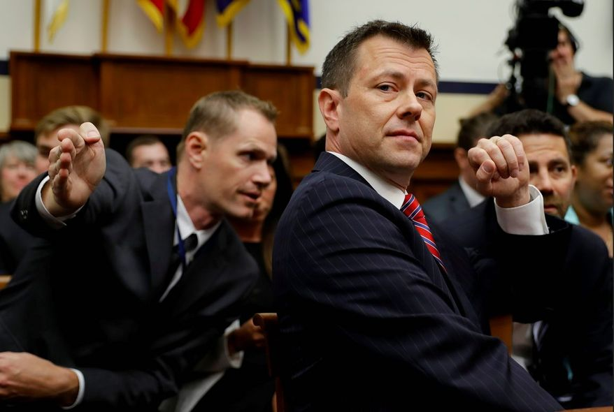 Texts between then-FBI Deputy Assistant Director Peter Strzok and FBI attorney Lisa Page could get a more complete examination soon. (Associated Press)