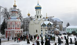 Sergiev Posad is about to change from a small town with a monastery into a home base for Russian Orthodox Christians that can rival the Vatican. (Associated Press photograph)