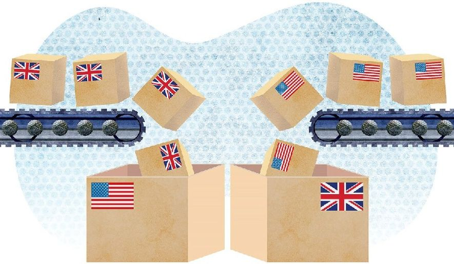 Free Trade with Britain Illustration by Greg Groesch/The Washington Times