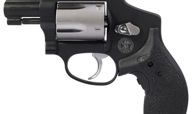 SMITH & WESSON PERFORMANCE CENTER MODEL 442 revolver was designed with hallmark Performance Center enhancements, including a sleek two-tone finish, high-polished features, Crimson Trace LG-105 Lasergrips, and a Performance Center Tuned Action.Designed for concealed carry, the Performance Center Model 442 includes a Crimson Trace LG-105 laser grip with red laser for quick target acquisition in less-than-ideal lighting conditions.  Chambered in .38 S&W Special +P, this new revolver is double action only with a five round capacity.  Additional features include a stainless steel cylinder with high-polished cylinder flutes; a high-polished thumb piece, plate screws, and trigger; and a Performance Center tuned action for a smoother, lighter trigger pull