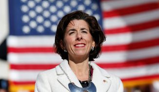 Rhode Island Gov. Gina Raimondo said a $1 billion, no-bid lottery deal with a political associate was important to keep 1,110 state jobs. (ASSOCIATED PRESS)