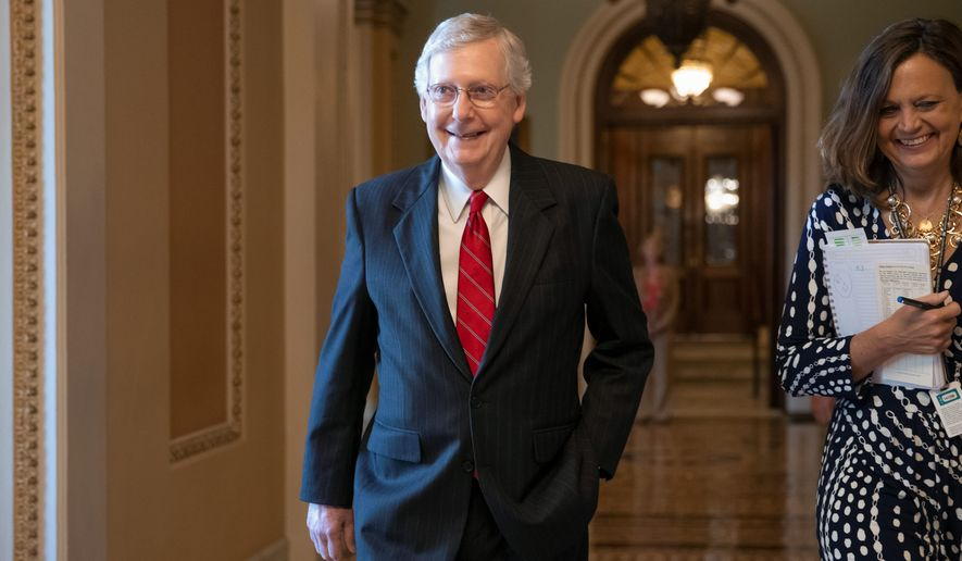 The quick confirmation for the nominees is a victory for Senate Majority Leader Mitch McConnell. Fifty-nine federal judges were installed. (Associated Press)