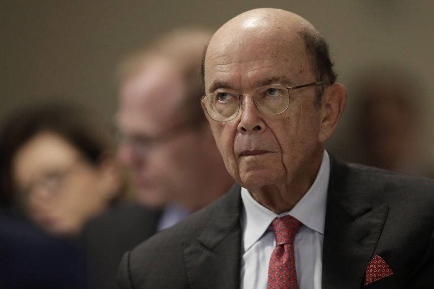 U.S. Commerce Secretary Wilbur Ross attends a meeting of the 17th Latin American Infrastructure Leadership Forum, in Brasilia, Brazil, Thursday, Aug. 1, 2019. Secretary Ross is on a four-day official visit to Brazil. (AP Photo/Eraldo Peres)