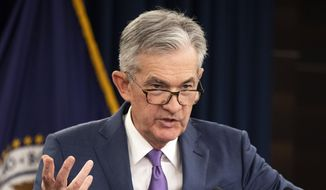 Federal Reserve Chairman Jerome Powell speaks during a news conference following a two-day Federal Open Market Committee meeting in Washington, Wednesday, July 31, 2019. The Federal Reserve cut its key interest rate for the first time in a decade to try to counter threats ranging from uncertainties caused by President Donald Trump's trade wars to chronically low inflation and a dim global outlook. (AP Photo/Manuel Balce Ceneta)