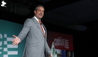 Democratic presidential candidate Congressman Tim Ryan, D-Ohio, speaks during an American Federation of State, County and Municipal Employees public service forum in Las Vegas, Saturday, Aug. 3, 2019. (Steve Marcus/Las Vegas Sun via AP)