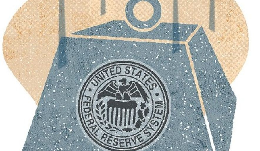 Illustration on the Fed's destructive potential by Greg Groesch/The Washington Times