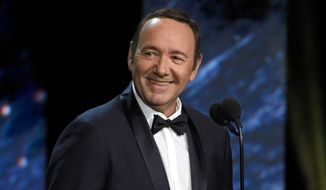 In this Oct. 27, 2017, file photo, Kevin Spacey presents the award for excellence in television at the BAFTA Los Angeles Britannia Awards in Beverly Hills, Calif. (Photo by Chris Pizzello/Invision/AP, File)