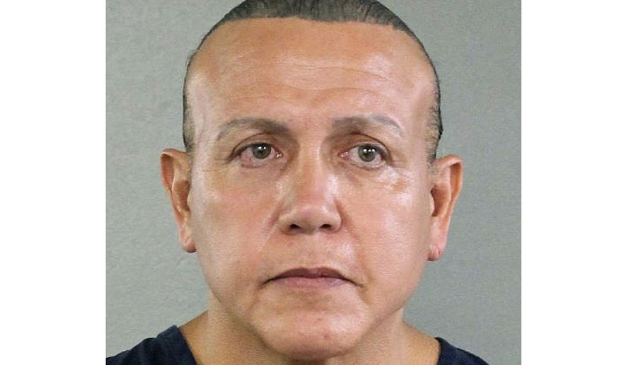 This Aug. 30, 2015, file photo released by the Broward County Sheriff's Office shows Cesar Sayoc in Miami. Sayoc, who created a two-week crisis by mailing 16 packages of inoperative pipe bombs packed with fireworks powder and shards of glass to 13 famous Democrats and CNN is scheduled to learn his punishment Monday, Aug. 5, 2019. (Broward County Sheriff's Office via AP, File)