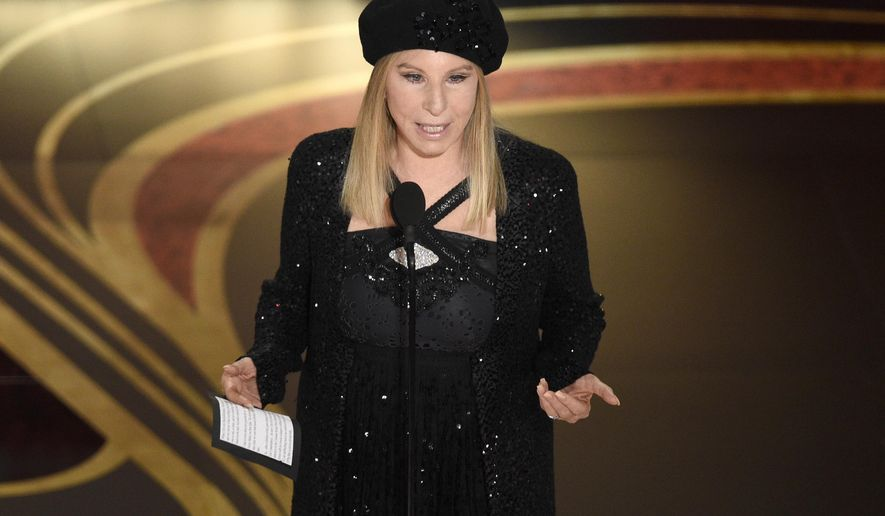 Barbra Streisand at the Oscars at the Dolby Theatre in Los Angeles. (Photo by Chris Pizzello/Invision/AP, File)