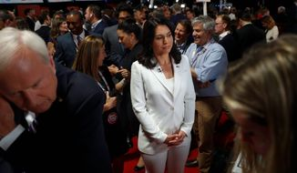Rep. Tulsi Gabbard, a Democratic presidential hopeful, has a two-week long Army National Guard training exercise she must attend in Indonesia. (Associated Press)