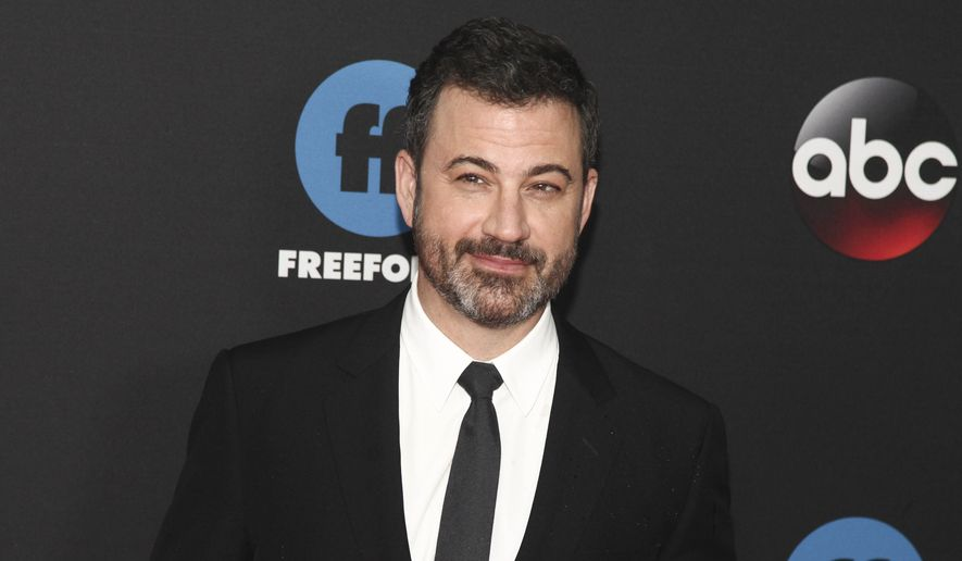 Jimmy Kimmel attends the Disney/ABC/Freeform 2018 Upfront Party at Tavern on the Green in New York, May 15, 2018. (Photo by Andy Kropa/Invision/AP) ** FILE **