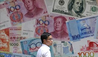 "China acknowledges it has ""ample control"" over its currency's exchange rate, Treasury Secretary Steven T. Mnuchin said Monday. (Associated Press/File)"