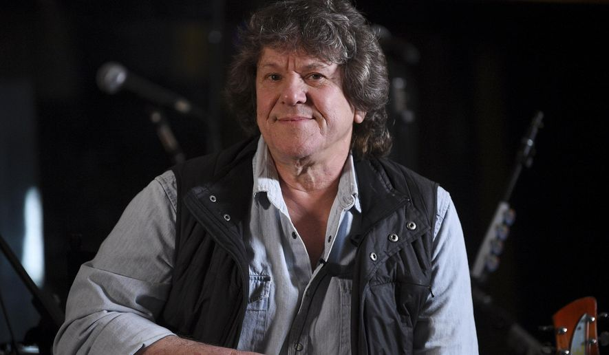 """FILE - In this March 19, 2019, file photo, Woodstock co-producer and co-founder, Michael Lang, participates in the Woodstock 50 lineup announcement at Electric Lady Studios in New York. Two days after Woodstock organizers officially announced the shambolic 50th anniversary concerts were off after months of setbacks and holdups, Woodstock co-founder Lang sums up the drama precisely in six words: """"It's been a really bizarre trip.""""  (Photo by Evan Agostini/Invision/AP, File)"""