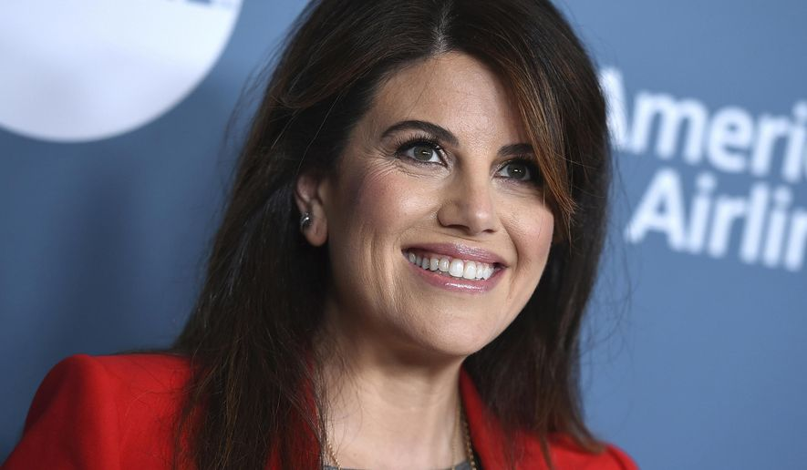"""In this Wednesday, Dec. 5, 2018, file photo, Monica Lewinsky arrives at The Hollywood Reporter's Women in Entertainment Breakfast at Milk Studios in Los Angeles. FX says the next chapter of its """"American Crime Story"""" series will dramatize the impeachment of President Bill Clinton. The miniseries will air in September 2020, within weeks of the general election. Lewinsky, the central figure in Clinton's impeachment, is a producer for the limited series. (Photo by Jordan Strauss/Invision/AP, File) **FILE**"""