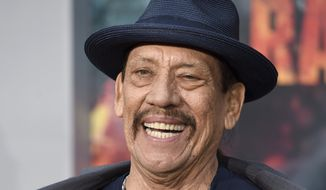 """Danny Trejo arrives at the world premiere of """"Rampage"""" at the Microsoft Theater on Wednesday, April 4, 2018, in Los Angeles. (Photo by Chris Pizzello/Invision/AP)"""