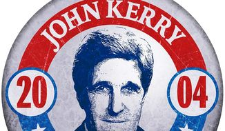 John Kerry for President 2004 Illustration by Greg Groesch/The Washington Times