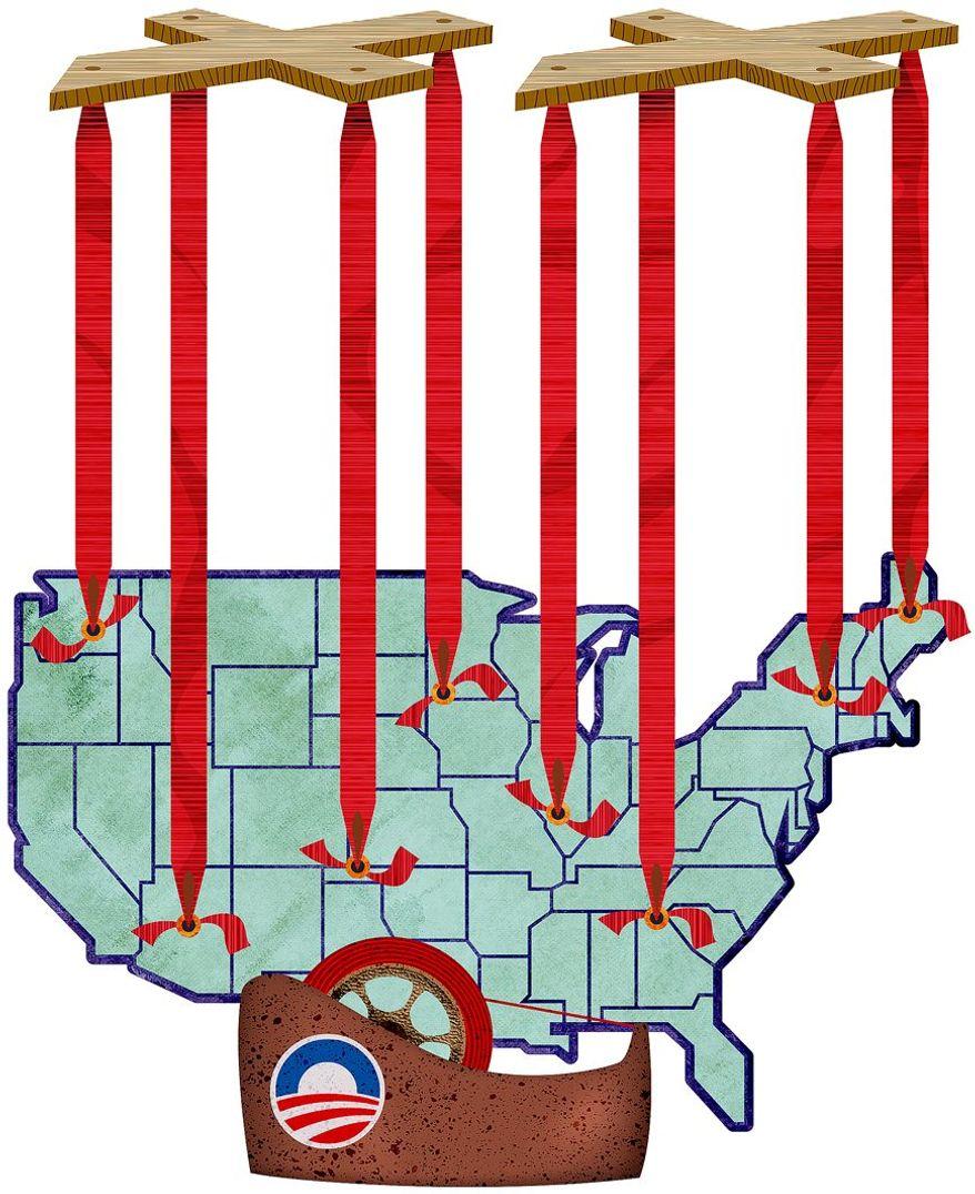 Obama Era Regulations Illustration by Greg Groesch/The Washington Times