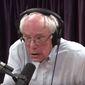 "Vermont Sen. Bernie Sanders discusses gun laws with Joe Rogan, Aug. 6, 2019. (Image: YouTube, ""The Joe Rogan Experience"" videos screenshot)"