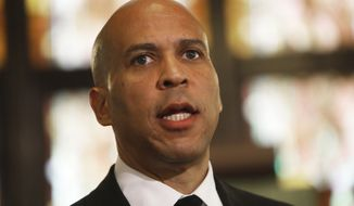 Democratic presidential candidate Cory Booker speaks about gun control at Mother Emanuel AME Church Wednesday, Aug. 7, 2019, in Charleston, S.C. (AP Photo/Mic Smith)