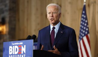 Democratic presidential candidate former Vice President Joe Biden speaks to local residents during a community event, Wednesday, Aug. 7, 2019, in Burlington, Iowa. (AP Photo/Charlie Neibergall) **FILE**