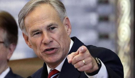 In this Feb. 5, 2019, file photo, Texas Gov. Greg Abbott gives his State of the State Address in the House Chamber in Austin, Texas. (AP Photo/Eric Gay, File)